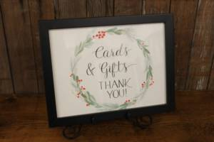 """J52: Winter """"Cards & Gifts"""" Sign"""