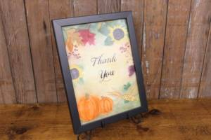 "J58: Fall ""Thank You"" Sign"