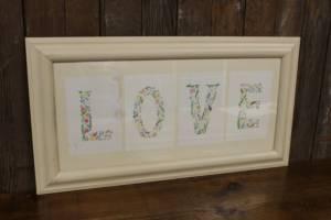 J59: LOVE Floral Sign