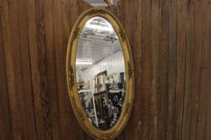 Gold Oval Mirror-L