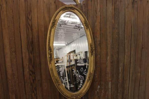Gold Oval Mirror-L