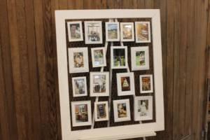 White Chicken Wire & Frame Display