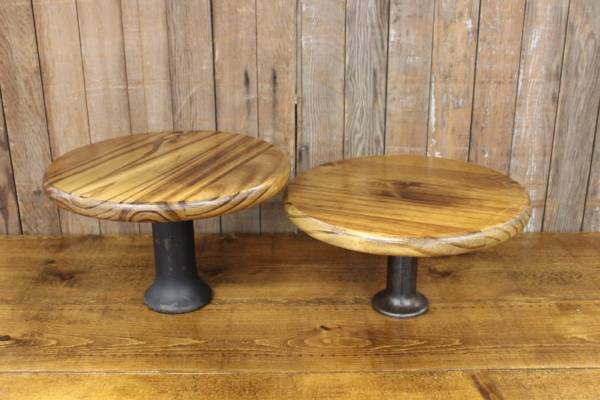 Wood & Iron Cake Stands