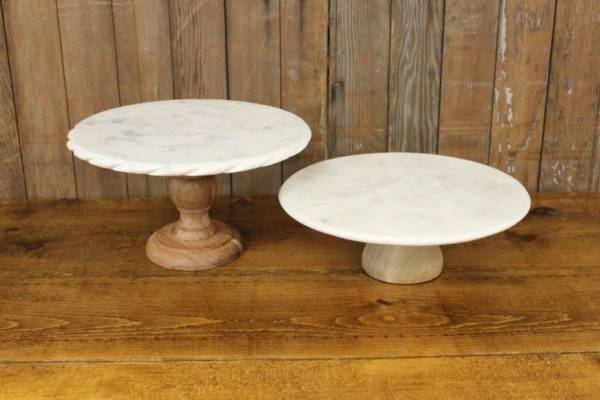 Marble & Wood Cake Stands