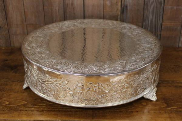 Bright Silver Cake Stand-XL