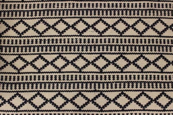 Navy & White Design Rug