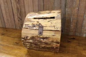 Wood Stump Card Box