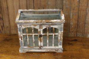 Worn White Terrarium Card Box