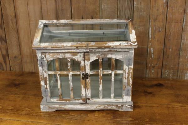Worn White Terrarium Card Box
