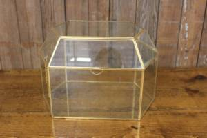 Gold & Glass Card Box