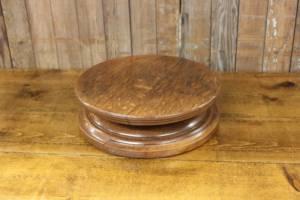 Oak Rotating Cake Stand