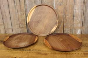 Finished Round Wood Trays-S