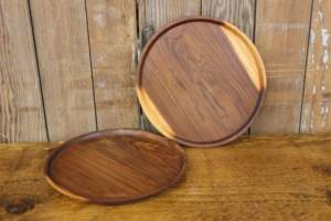Finished Round Wood Trays-M