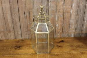 Gold & Glass Terrarium Lanterns