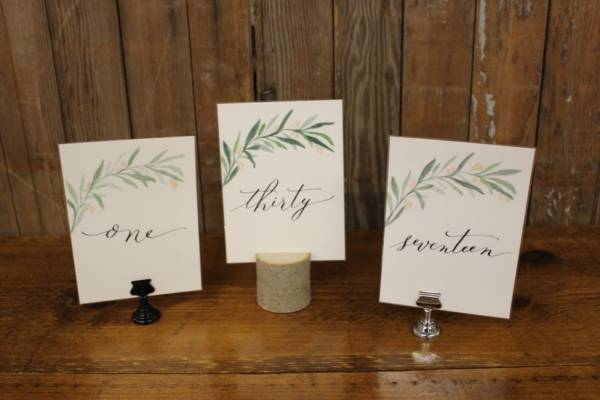 Greenery Branch Table Numbers