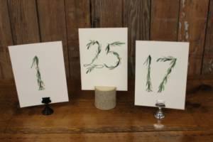 Vine Table Numbers