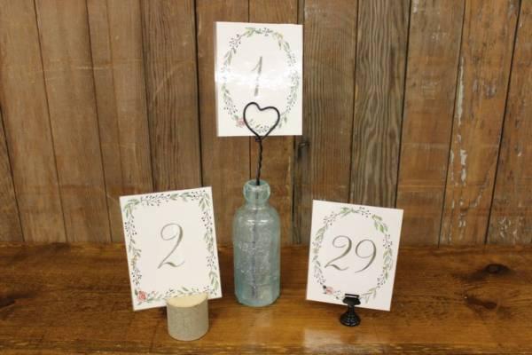 Floral Laurel Table Numbers