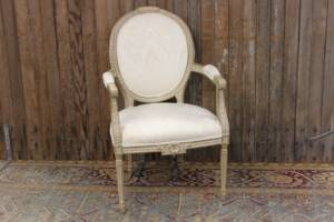 Ivory Chevron Chairs