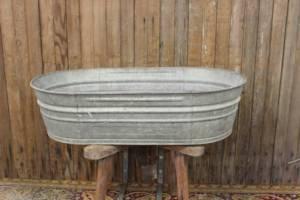 Oval Galvanized Tub-L