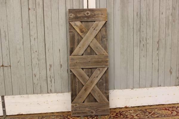 Double Sided Barn Wood Panel