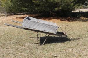 Barn Wood Wheel Barrow