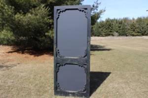 F282: Black Screen Door Chalkboard-XXL