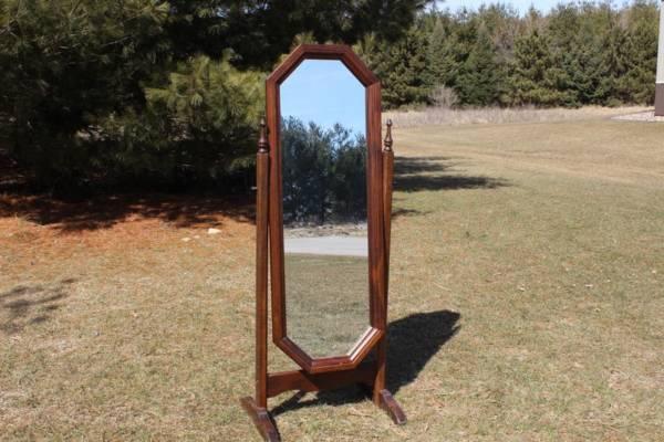 Dark Wood Full Mirror