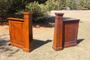 Dark Wood Craftsman Pillars