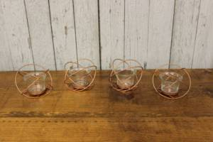 Copper Geometric Votives