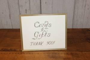 """J64: Vine """"Cards & Gifts"""" Sign"""