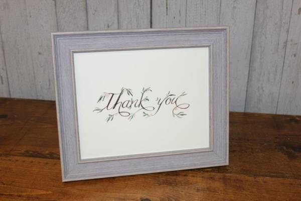 J63: Vine Thank You Sign
