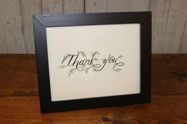 J65: Black Vine Thank You Sign